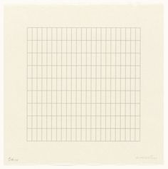 Agnes Martin. Untitled from the portfolio On a Clear Day. 1973