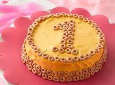 First Birthday Smash Cake - Cheerios Theme Birthday Party