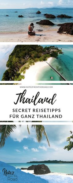 The best travel tips for the whole of Thailand, Itinerary for your next trip you . - Travel the world - Urlaub Laos Travel, Thailand Travel Guide, Asia Travel, Travel Trip, 4 Island Tour Krabi, Railay Beach Krabi, Smoky Mountains Hiking, Koh Lanta Thailand, Disney World Backpack