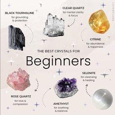 🌱🌞✨🔮 — The best crystals for... 🤍 @lovebyluna on... Crystal Healing Chart, Crystal Guide, Crystal Magic, Healing Crystals, Crystals And Gemstones, Stones And Crystals, Gem Stones, Crystals For Energy, Witchcraft Spell Books