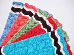 Kitchen Towels Hand Towels Crocheted Rainbow by CozyKitchenKnits, $50.00