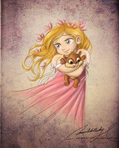 Olá geeks!Hoje é a vez das Princesas Disney voltarem a infância!A ilustradora argentina Maria Sol, redesenhou as nossas queridas personagens dos contos de fada na sua versão mais fofa! Vamos conferir?Adorei as princesas segurando os outros personagens do desenho como se fossem seus 'ursinhos de pelúcia'! E os grandes olhos meigos ajudaram a dar um ar mais inocente. ^^Beijos!