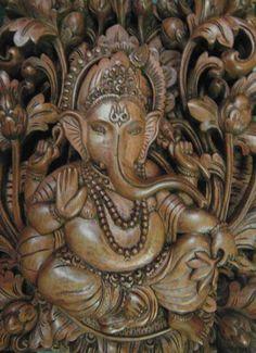 Ganesha Manis Sweet Ganesha carved relief in by SumertaDesigns, $650.00