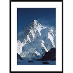 """Global Gallery 'K2 at Dawn' Framed Photographic Print Size: 36"""" H x 26"""" W x 1.5"""" D"""