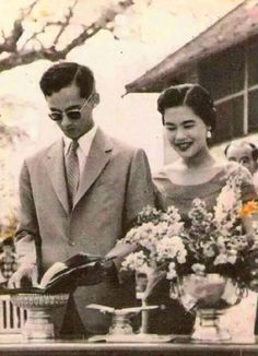 His Majesty King Bhumibol Adulyadej and Her Majesty Queen Sirikit of Thailand