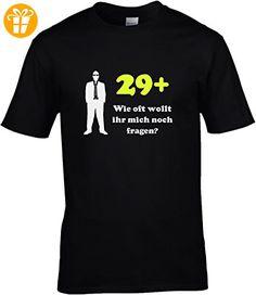 Fun Shirt Geburtstag Herren Sprüche zum 30. Geburtstag 29+ wie oft wollt ihr mich noch fragen, T-Shirt, Grösse L, schwarz - T-Shirts mit Spruch | Lustige und coole T-Shirts | Funny T-Shirts (*Partner-Link)