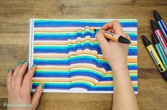 Prepare this simple optical illusion using a few markers and a sheet of paper!