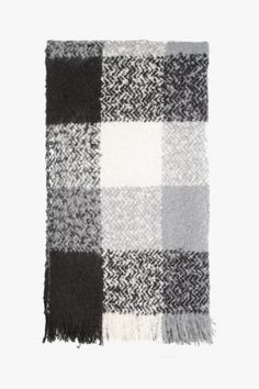 TONAL CHECK BLANKET SCARF