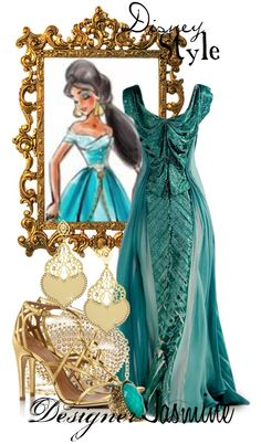 """Disney Style : Jasmine"" by Disney Themed Outfits, Disney Bound Outfits, Cruise Outfits, Princess Outfits, Disney Dresses, Princess Clothes, Disney Clothes, Prom Dresses, Disney Prom"