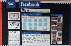 Middle School Bulletin Board - Facebook.  Had to 'blur' out images and names