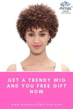 New Short Hair Brazilian Afro Kinky Afro Kinky Hairstyles, Kinky Curly Wigs, Afro Wigs, Human Hair Wigs, Wig Hairstyles, Stylish Short Hair, Wig Making, Womens Wigs, Wigs For Black Women