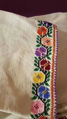 FL322 Embroidery On Kurtis, Hand Work Embroidery, Creative Embroidery, Shirt Embroidery, Hand Embroidery Designs, Cross Stitch Embroidery, Cross Designs, Cross Stitch Designs, Cross Stitch Patterns