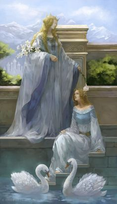 Idril Celebrindal`s dream: Elenwe blesses daughter (on the eve of the wedding with Tuor) Writing Inspiration, Character Inspiration, Character Art, Fantasy World, Fantasy Art, Images Esthétiques, Bolshoi Ballet, Fairytale Art, Classical Art