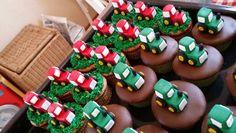 Traktor cupcakes