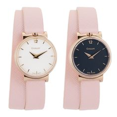 Pack of woman watches with nude double strap and 2 cases - one with white dial and one with black dial #guillotwatches #maisonguillot #timetochange #timetohavefun #timetobeyourself #wristwatch #doublestrap #watchforwomen #nudewatch #whitedial   #blackdial #pinkstrap #goldpinkcase #nude #white #goldpink #swissmade #savoirfaire #luxury #interchangeable #modular #fashionaccessory #parisian #elegance #watchaddict #borninparis Woman Watches, Double S, Pink Watch, Or Rose, Parisian, Fashion Accessories, Cases, Bracelet, Elegant