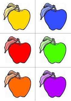 Preschool Apple Activities, Morning Activities, Alphabet Activities, Color Activities, Preschool Worksheets, Activities For Kids, 4th July Crafts, Fruits For Kids, Teacher Notebook