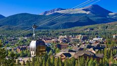 Breckenridge gondola in summer. Hopefully, I will conquer my fear of heights and check out this gondola ride this summer!