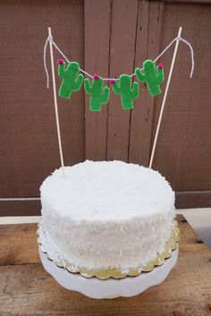 Cute Cactus Garland Cake Topper. https://www.etsy.com/listing/514331497/felt-cactus-cake-topper-garland-cacti?ref=shop_home_active_1