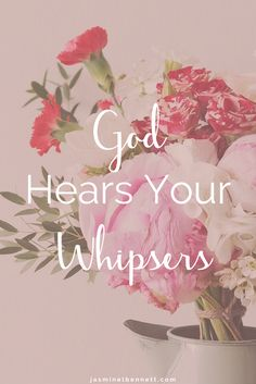 God hears every whisper and every cry when you're depressed. A quote for christian women with depression.