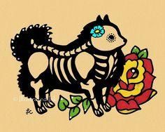 Giorno del morto cane POMERANIA Dia de los di illustratedink