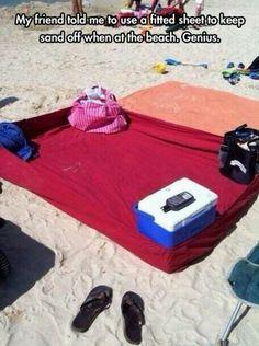 Keep sand off - good idea