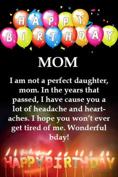 Latest & Famous Birthday Quotes For Mom Birthday Wishes For Mum, Happy Birthday Mom Images, Birthday Message For Mom, Happy Birthday For Her, Happy Birthday Quotes For Friends, Birthday Wishes Messages, Happy Mother Day Quotes, Birthday Wishes And Images, Wishes Images