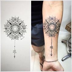 Tatuagem Feminina - mandala