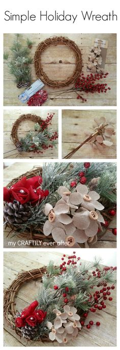 I shared with you a couple weeks ago about my new go to site for ordering craft supplies, consumer crafts. I gave you a sneak peek of some of the supplies I was ordering and now I am going to show you exactly what I made with them! Supply List Grapevine Wreath-12 inch Artificial Pine …