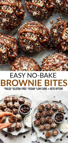 Brownie Desserts, Easy Desserts, Delicious Desserts, Yummy Food, Healthier Desserts, Best Dessert Recipes, Snack Recipes, Snacks, Amazing Recipes