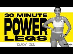 30 Minute Power Legs Workout | POWER Program - Day 21 - YouTube Power Training, Weight Training, Leg Day Workouts, At Home Workouts, Legs Day, Glutes, Workout Videos, Fitness Goals, Cardio