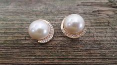 Excited to share the latest addition to my #etsy shop: KF Marked Kirk Folly Simulated Pearl and Crystal Formal Earrings, Crystal Encrusted Wedding Jewelry, Clip on Earrings, Vintage Kirk Folly http://etsy.me/2tsYL4u #jewelry #earrings #earlobe #kfearrings #kirkfolly