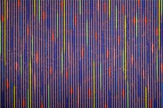 Michael Cook, Venetian Id (Blues), Oil on canvas, x Painted Warp, Op Art, Graphic Design Inspiration, Oil On Canvas, Abstract Art, Art Gallery, Contemporary, Venetian, Prints