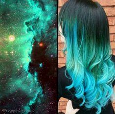 10 Galaxy Hairstyles We Love 10 Galaxy Hairstyles We Love. Kids Hair Color, Men Hair Color, Hair Dye Colors, Hair Color Blue, Cool Hair Color, Tie Dye Hair, Dyed Hair, Galaxy Hair Color, Cool Hair Designs
