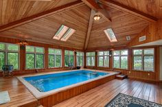 Leader in sales of compact swimming pools, swim spas and non-traditional swimming pools. See and try a Fastlane Pool or Fastlane Pool Swim Spa at a local dealer near you. Small Backyard Pools, Indoor Swimming Pools, Swimming Spa, Piscina Interior, Spa Rooms, Beautiful Pools, Pool Spa, Pool Houses, Pool Designs