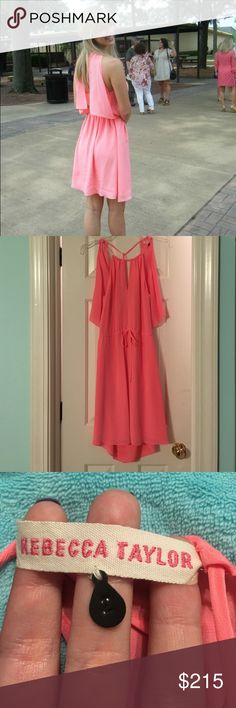 Rebecca Taylor Dress Bright peach dress by Rebecca Taylor. Size 2. Only worn once. Perfect spring/summer dress!               •open to offers• Rebecca Taylor Dresses Backless