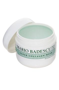 Mario Badescu 'Super Collagen' Mask available at #Nordstrom ~ I wake up at 5:30am daily (yes crazy) and I put this on my dry face and putter around until I shower rinse this off. Trust me, your skin will thank you @Mario Law Law Badescu Skin Care