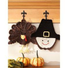 Sugar 'n Cream - Pilgrim Dishcloth (crochet) Yarn Free Knitting Patterns Crochet Patterns Yarnspirations Thanksgiving Crochet, Crochet Fall, Holiday Crochet, Halloween Crochet, Thanksgiving Crafts, Crochet Home, Crochet Crafts, Crochet Projects, Free Crochet
