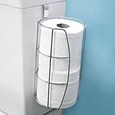 Keep your bathroom tidy with this handy and durable toilet roll caddy, finished in stylish chrome, this three roll capacity caddy offers practicality with a modern touch.- Easy to clea Toilet Roll Holder And Brush, Toilet Brush, Bathroom Shelves, Bathroom Organization, Bathroom Ideas, Wooden Ladder Shelf, Bath Rack, Toilet Accessories, Toilet Bowl