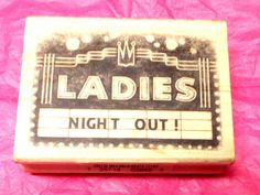 Inkadinkado Ladies Night Out Marquee rubber stamp wood mounted Invitaion stamps Card making Scrapbooking Journaling Stamping Paper Crafts by NoodlesNotions on Etsy