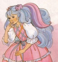 Lady LovelyLocks with lavender blue hair. Vintage Toys, Retro Vintage, Lady Lovely Locks, Retro Cartoons, Lavender Blue, 90s Kids, Magical Girl, Shoujo, Blue Hair