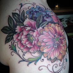 """A wild and bouquet for Kristin by Alice Kendall Birth Flower Tattoos, Flower Tattoo Back, Collage Tattoo, Henna Ink, Bouquet Tattoo, Tattoo Addiction, Tattoo Portfolio, Peonies Tattoo, Botanical Tattoo"