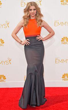 Natalie Dormer de Game of Thrones con un vestido de J Mendel - Emmys 2014