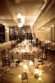 picture of real wedding at Greenhouse Loft - really like the lighting here
