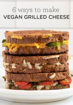 Here are 6 ways to make the best VEGAN Grilled Cheese! We've got spinach artichoke, mushroom, traditional, pesto, broccoli cheddar, and avocado! These grilled cheese sandwich recipes are dairy-free, gluten-free, easy to make, healthy, and they taste gourmet! Grill Cheese Sandwich Recipes, Grilled Cheese Recipes, Best Vegan Cheese, Dairy Free, Gluten Free, Vegan Grilling, Cheese Spread, Broccoli Cheddar, Gourmet