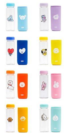 I want the cooky bottle Mochila Do Bts, Bts Doll, Bts Shirt, Bts Clothing, Line Friends, Kpop Merch, Bts Korea, Album Bts, Bts Pictures