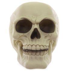 Spardose 11,5 cm Gruseliger Glow in the Dark Totenkopf