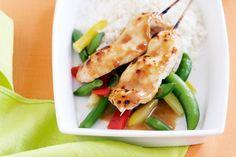 Chicken satay skewers - nom!