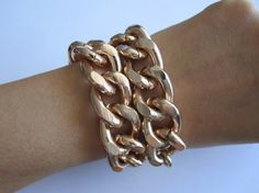 """MUST find a rose gold bracelet like this! This one is by the seller """"lovechichi"""" on etsy."""