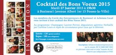 27/01 - Cocktail voeux 2015