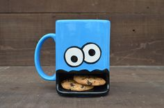 Googly Eyed Monster Ceramic Cookie and Milk Dunk Mug - Made to Order. $27.00, via Etsy.